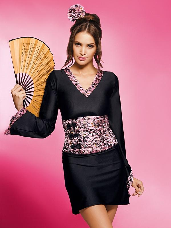 Košilka Geisha - Obsessive Barva: original, Velikost: L/XL