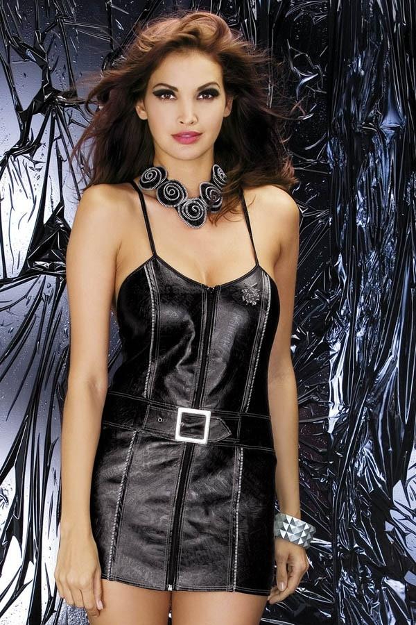 Sexy kostým Biker dress - Obsessive Čierna S/M