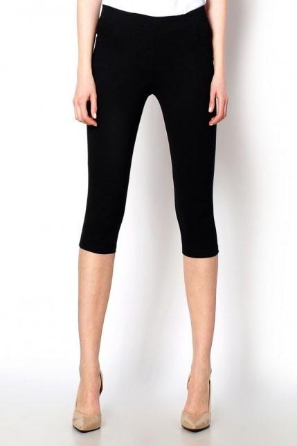 Dámské bavlněné 3/4 kalhoty MANDY se zipy v zadní partii černé - Růžová / S - Hot red on SUN M