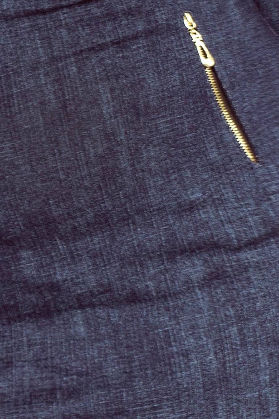 Dámske bavlnené šaty JEANS v dizajne džínsov sa zipsami tmavo modré - Tmavo modrá / S - Numoco tmavo modrá s