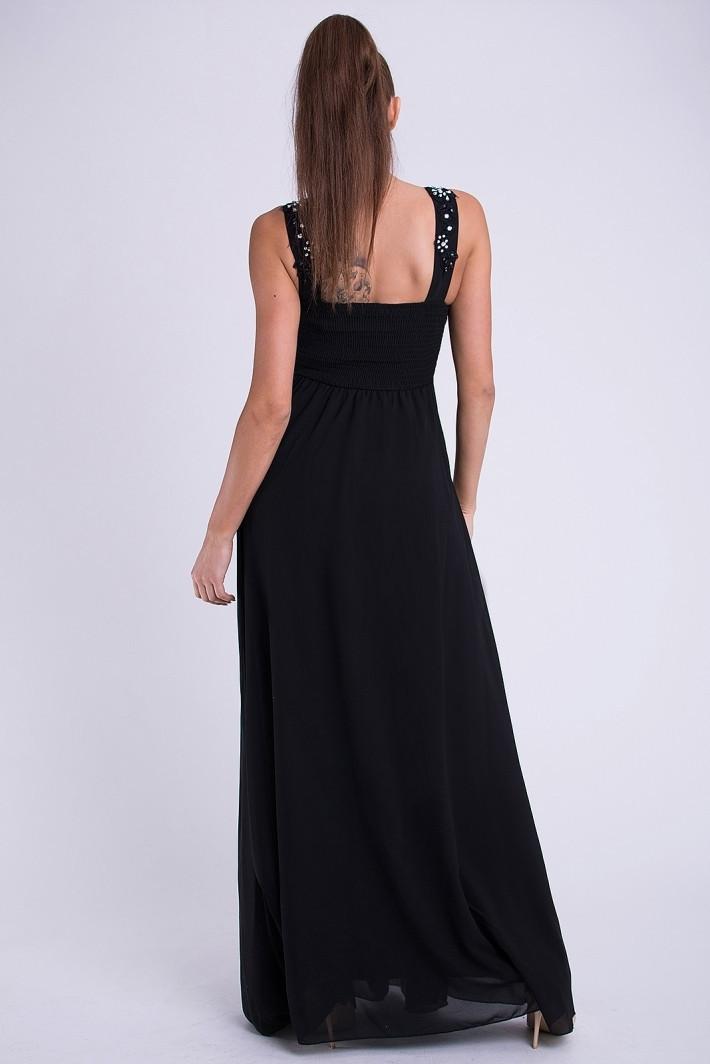 Dámske plesové dlhé šaty EVA LOLA čierne - Čierna / M - YNS čierna M