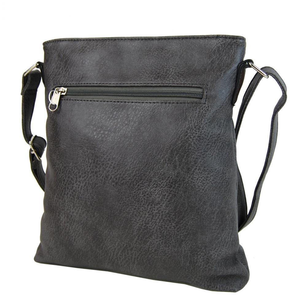 Crossbody dámska kabelka H1729 šedá - NEW BERRY šedá