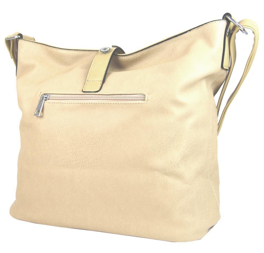 Veľká dámska crossbody kabelka béžová - NEW BERRY Béžová