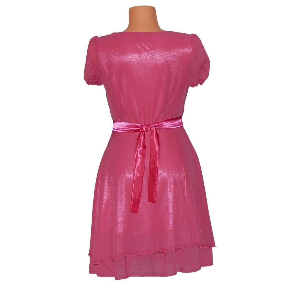 PROM Dámske párty a plesové šaty stredne dlhé ružové - Ružová - OEM ružová S