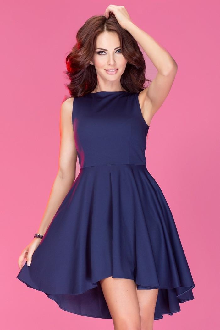Dámske šaty Asymetric exkluzívny Lacoste modré - Tmavo modrá - Numoco temne modrá L