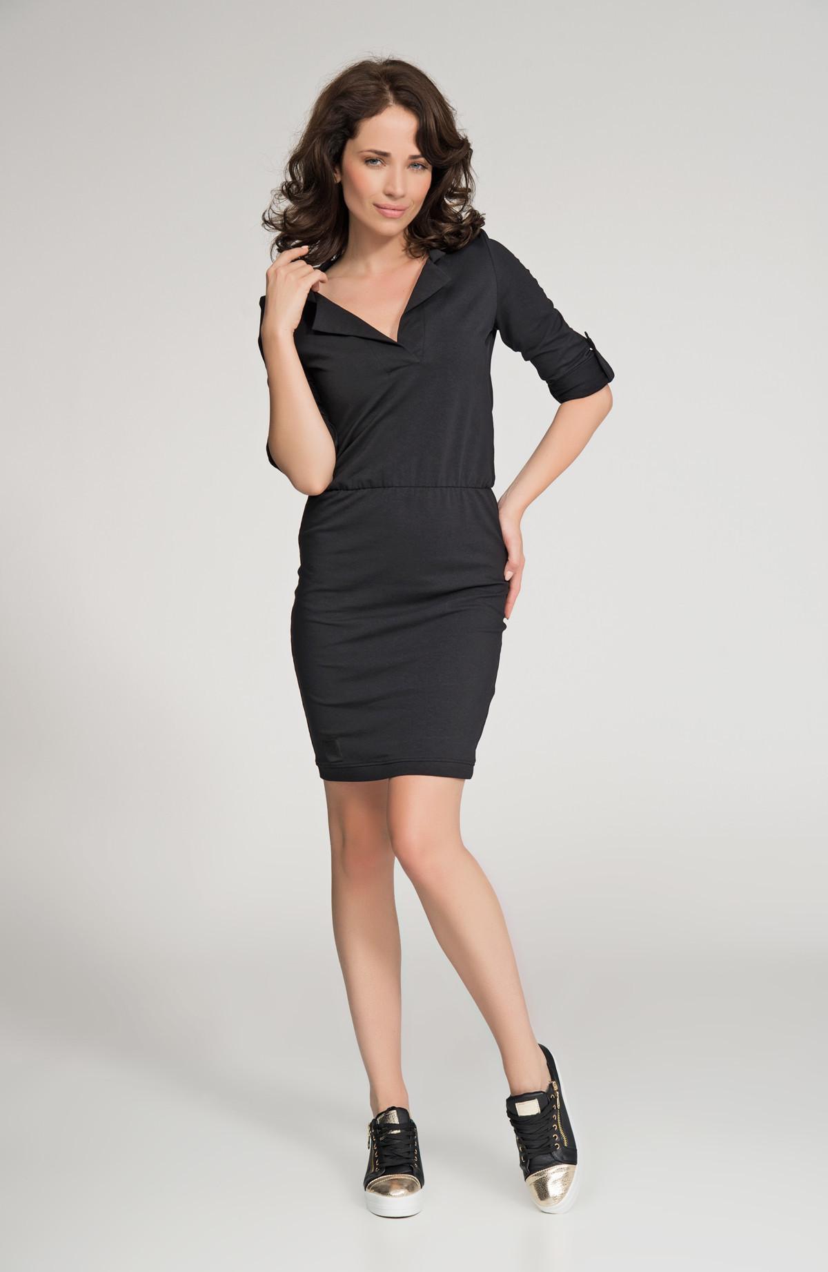 Dámske šaty značkové voľnočasové čierne - Čierna - Numinou černá 42