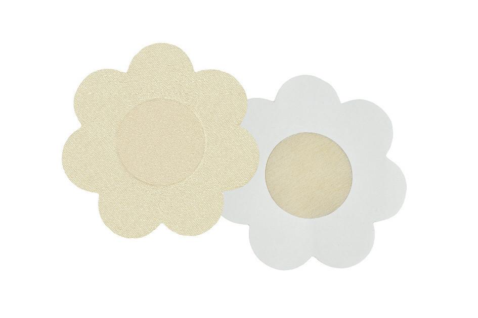 Nálepky na bradavky PS 07 - Julimex béžová květinky