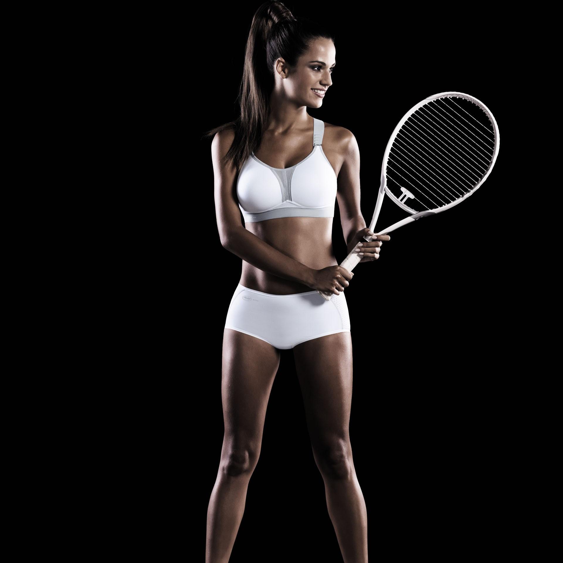 Sportovní podprsenka DynamiX Star 5537 - Anita Barva: šedá-tyrkysová, Velikost: 90C