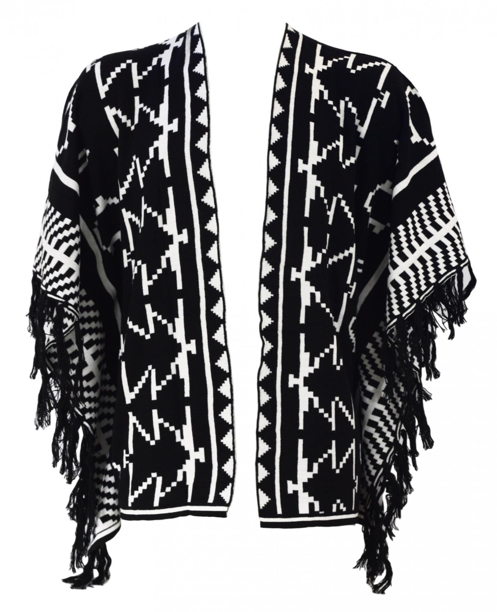 Dámský kardigan 9228 - Gemini bílo-černá uni