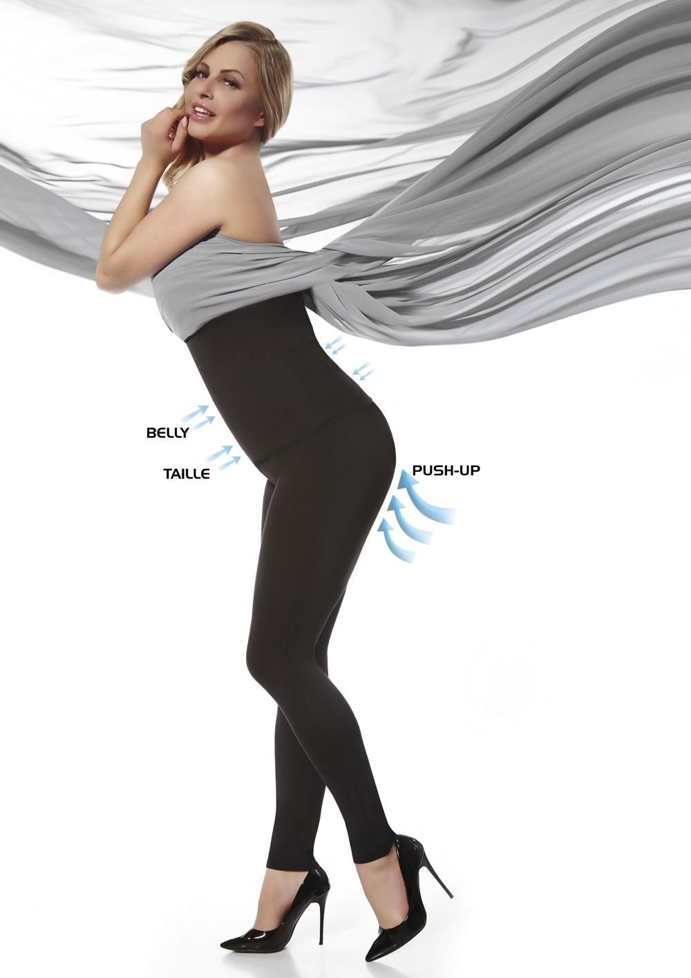 Legíny Bella - Bas Bleu čierna XXL