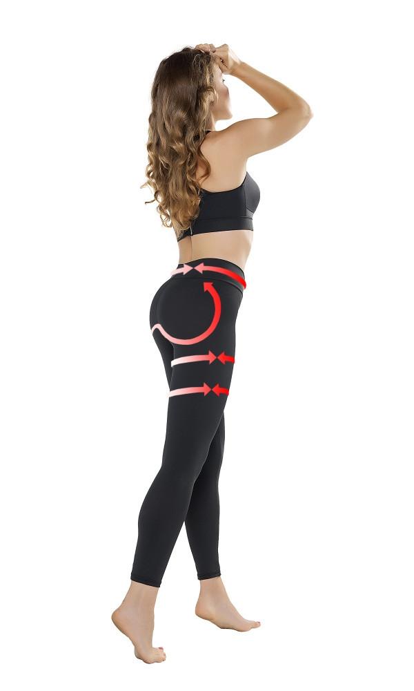 Legíny Push-up Leggings Anti Cellulite - Gwinner čierna S
