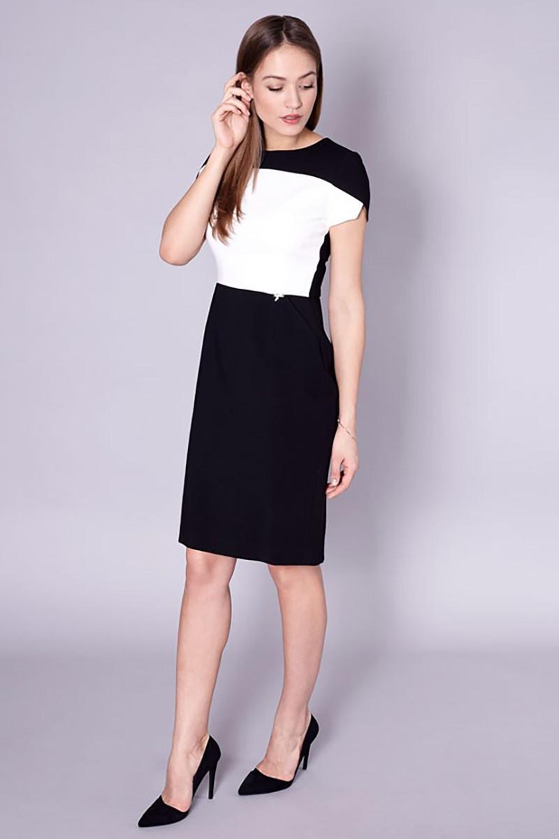 Dámské šaty 60-064 - Click Fashion černo - bílá 38 3104aa8e1a