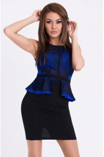 Dámske šaty 2476 - Emamoda čierna-modrá M