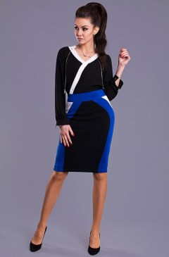 Dámská sukně Y8506 - Emamoda modro-černá S