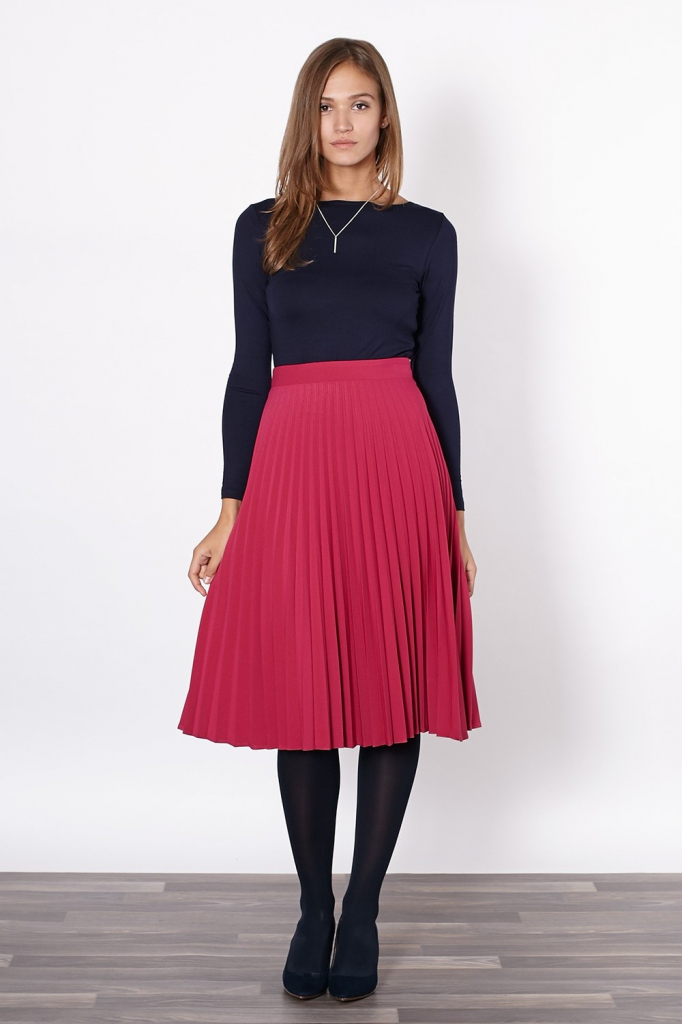 Dámská sukně 50-329 - Click fashion tm.růžová 42