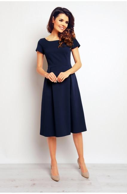 Dámske šaty M084 Infinite - Gemini tm.modrá L