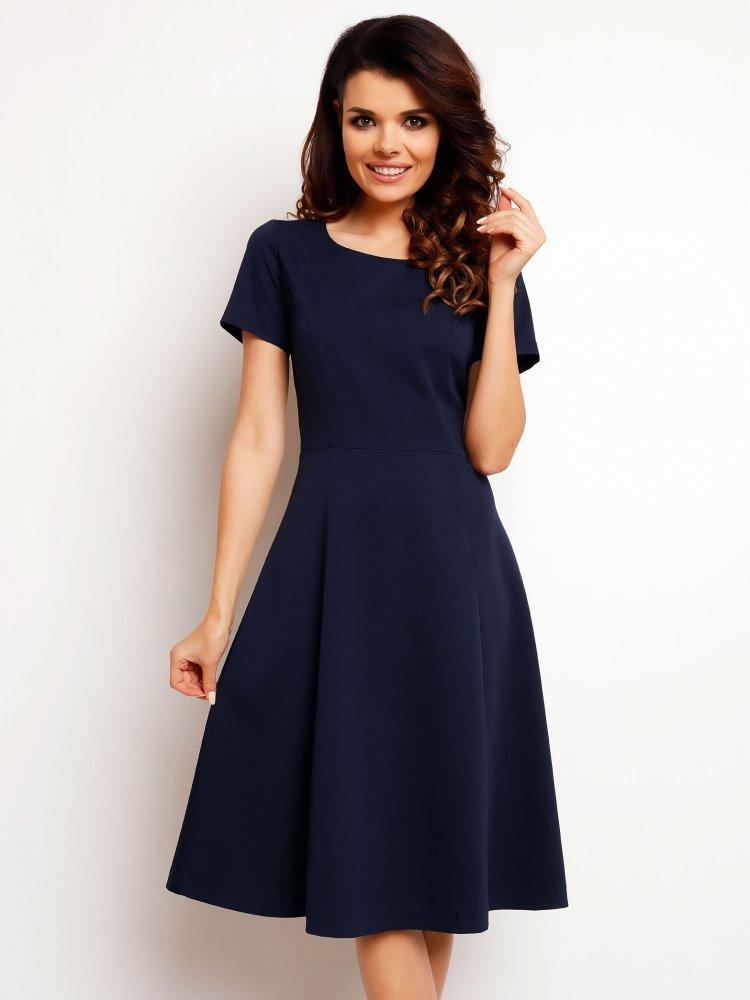 Dámske šaty M095 Infinite - Gemini tm.modrá L
