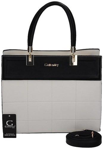 Dámska kabelka s ozdobným prešívaním - Gallantry bila s cernou UNI