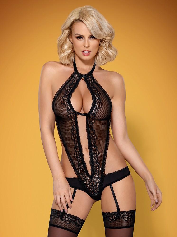 Sexy body 830 - TEG teddy - Obsessive černá S/M
