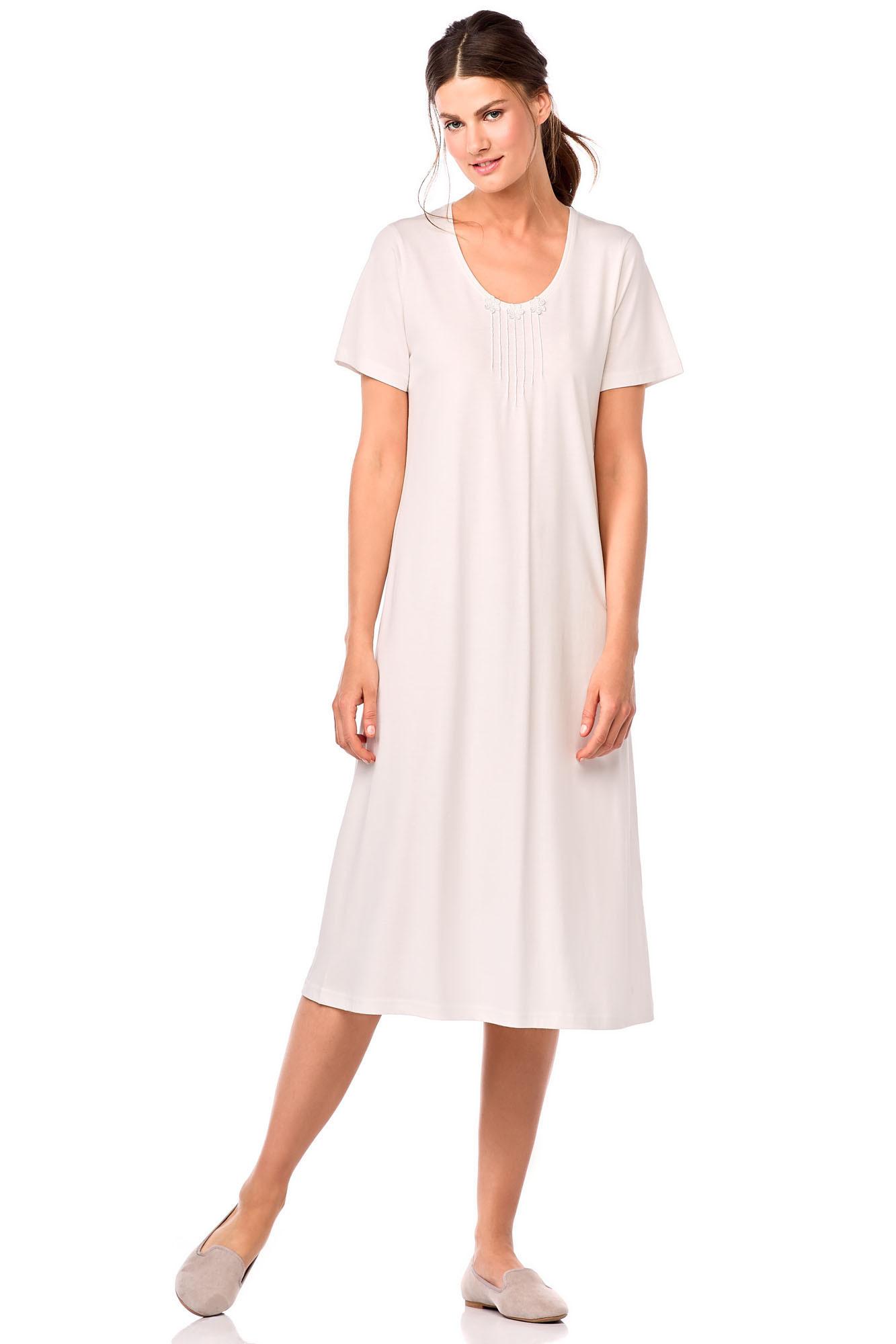 Dámská noční košile 10-6755 Vamp Barva: ecru, Velikost: M