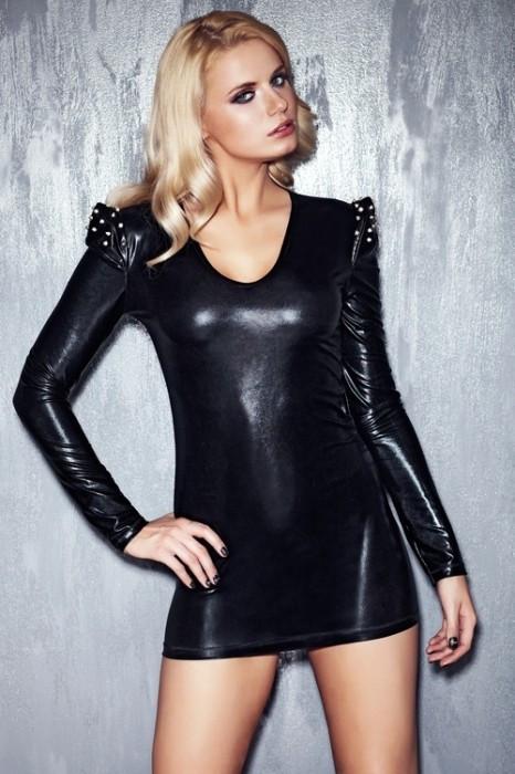 Dámske erotické šaty Brandy - 7 Heaven Čierna M