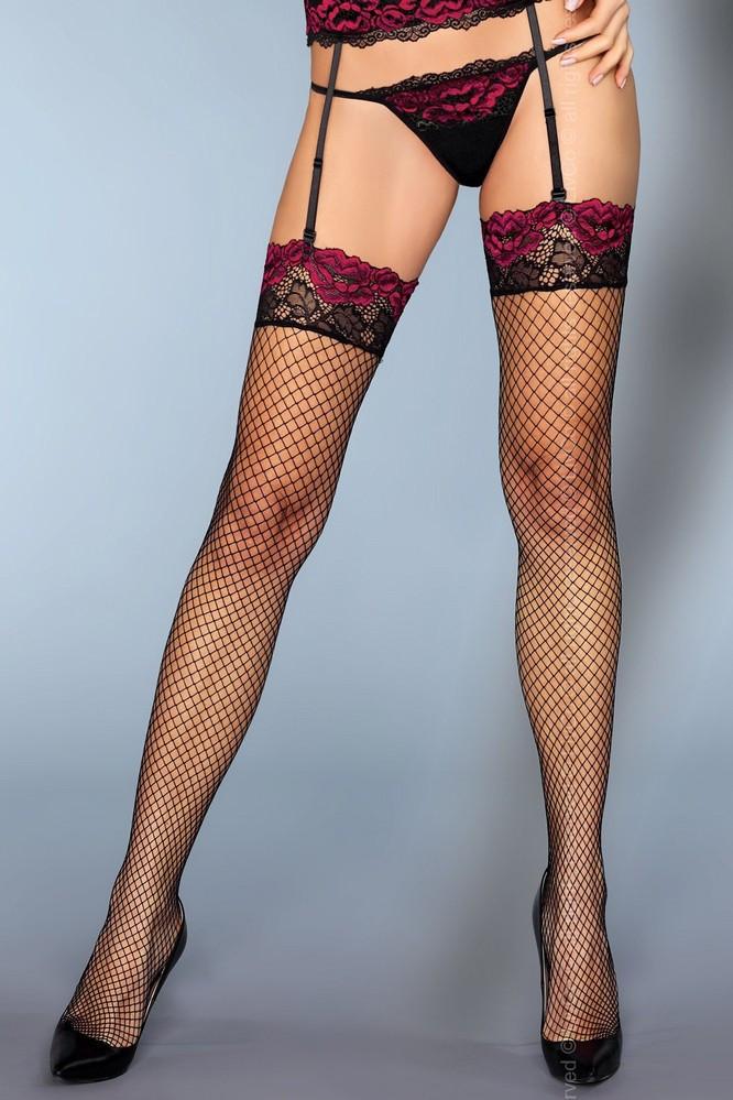 Svůdné punčochy Perry - LivCo Corsetti Barva: černá, Velikost: L/XL