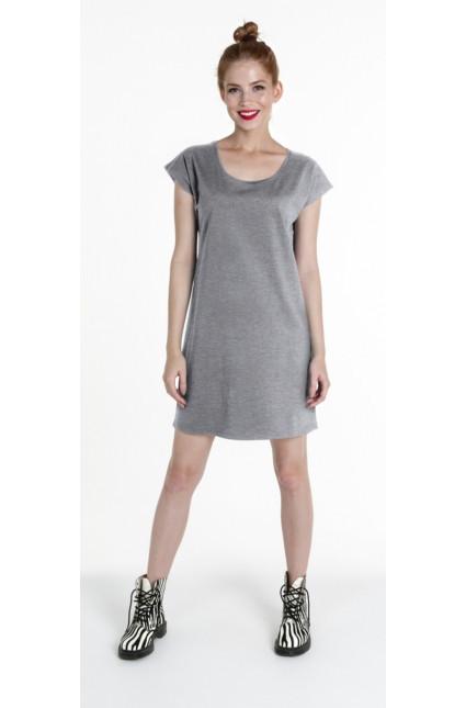 Dámské tuniko-šaty 25000 - PROMOSTARS Barva: šedá, Velikost: S