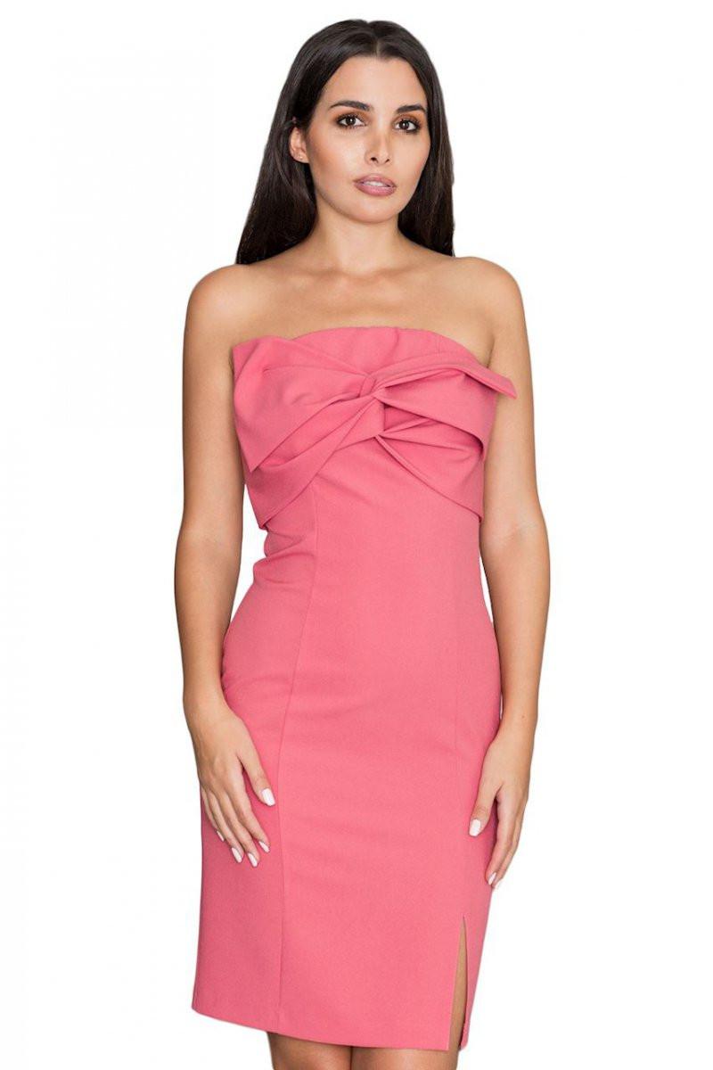 Dámske šaty M571 - Figl béžová L
