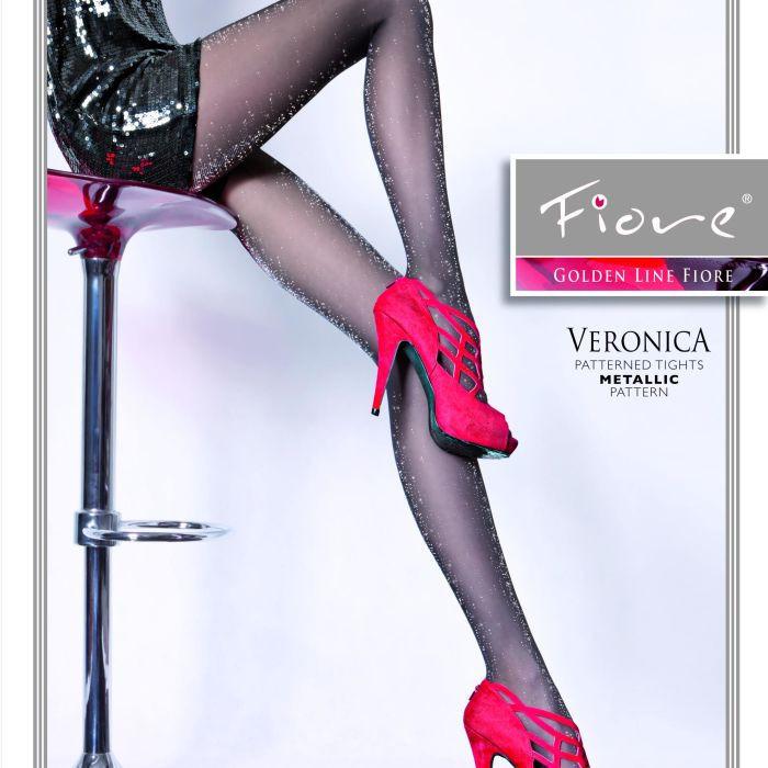 Dámské punčochové kalhoty Veronica 20 den - Fiore černá 2