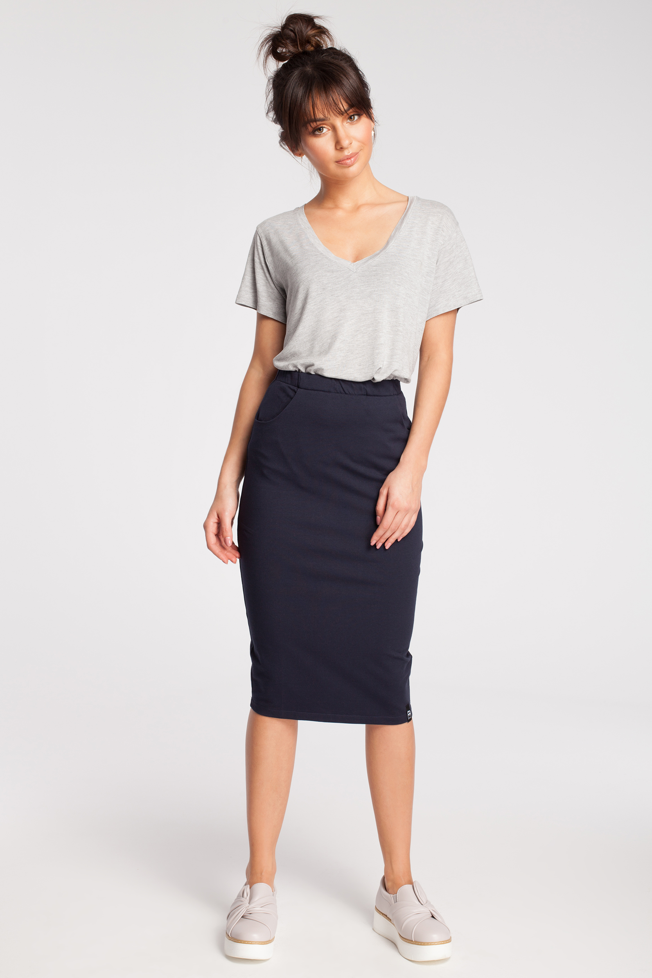 Dámska sukňa B019 - BEwear šedá 38
