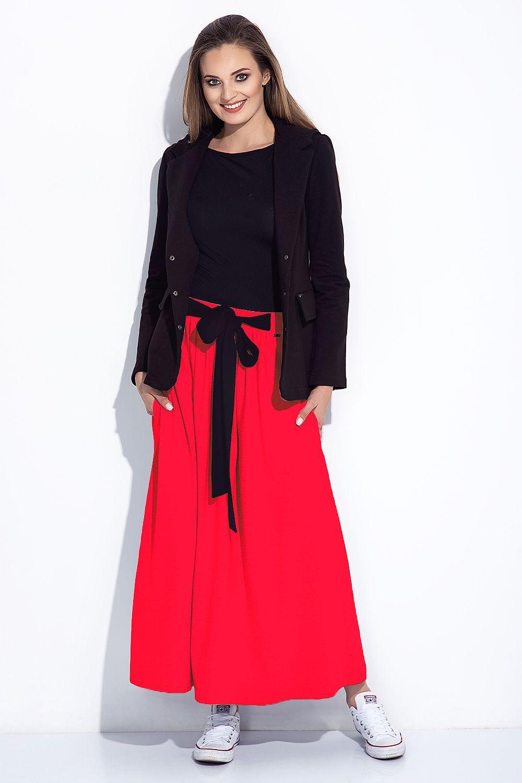 Dámska sukňa dlhá 252 - Bien Fashion šedá melange XXL