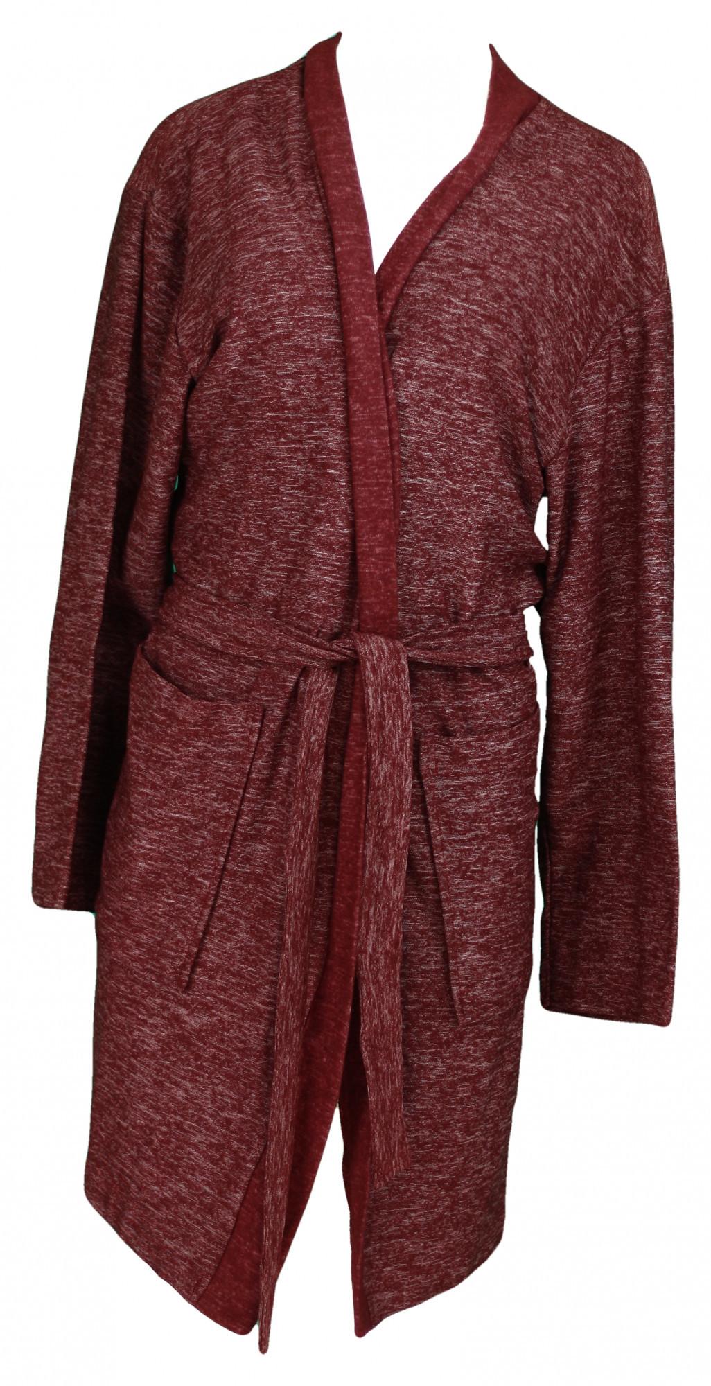 Dámský župan Marble kimono 1321- Vestis šedý melír XL
