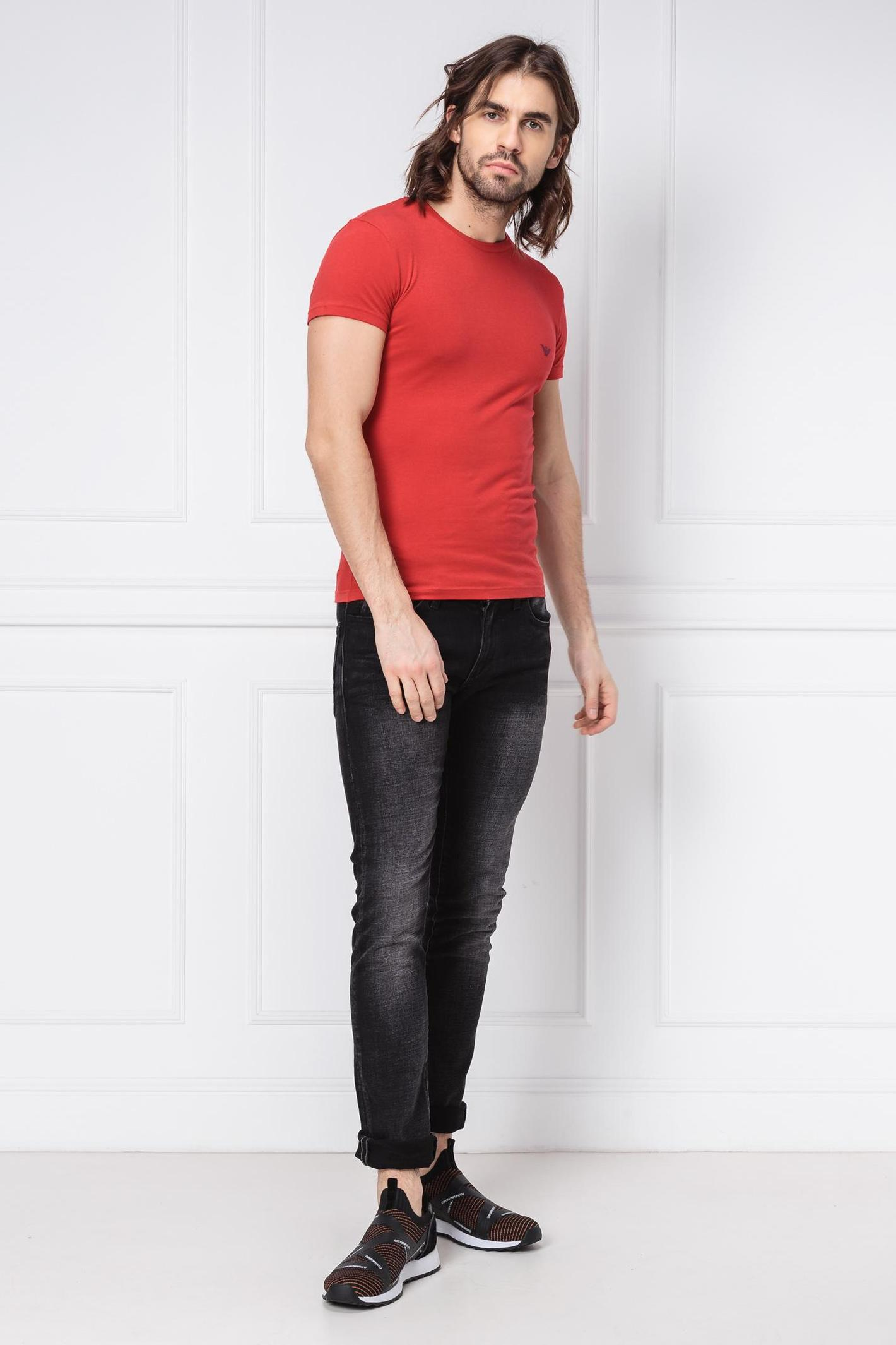 Pánske tričko 111035 9P725 červená - Emporio Armani červená L