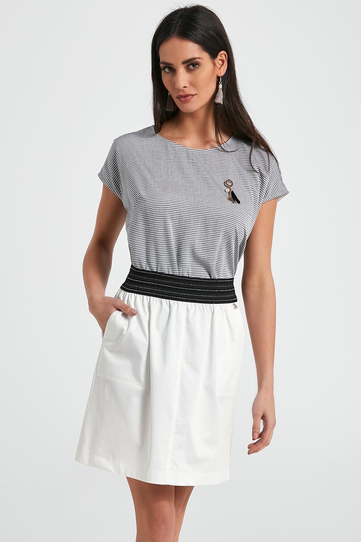 Dámská sukně 250088 - Ennywear bílo-černá 36
