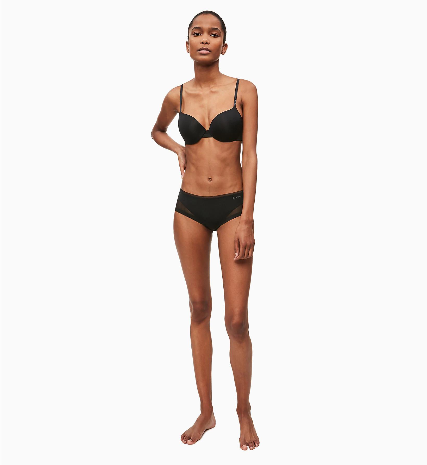 Podprsenka vystužená QF1739E-001 čierna - Calvin Klein čierna 70A