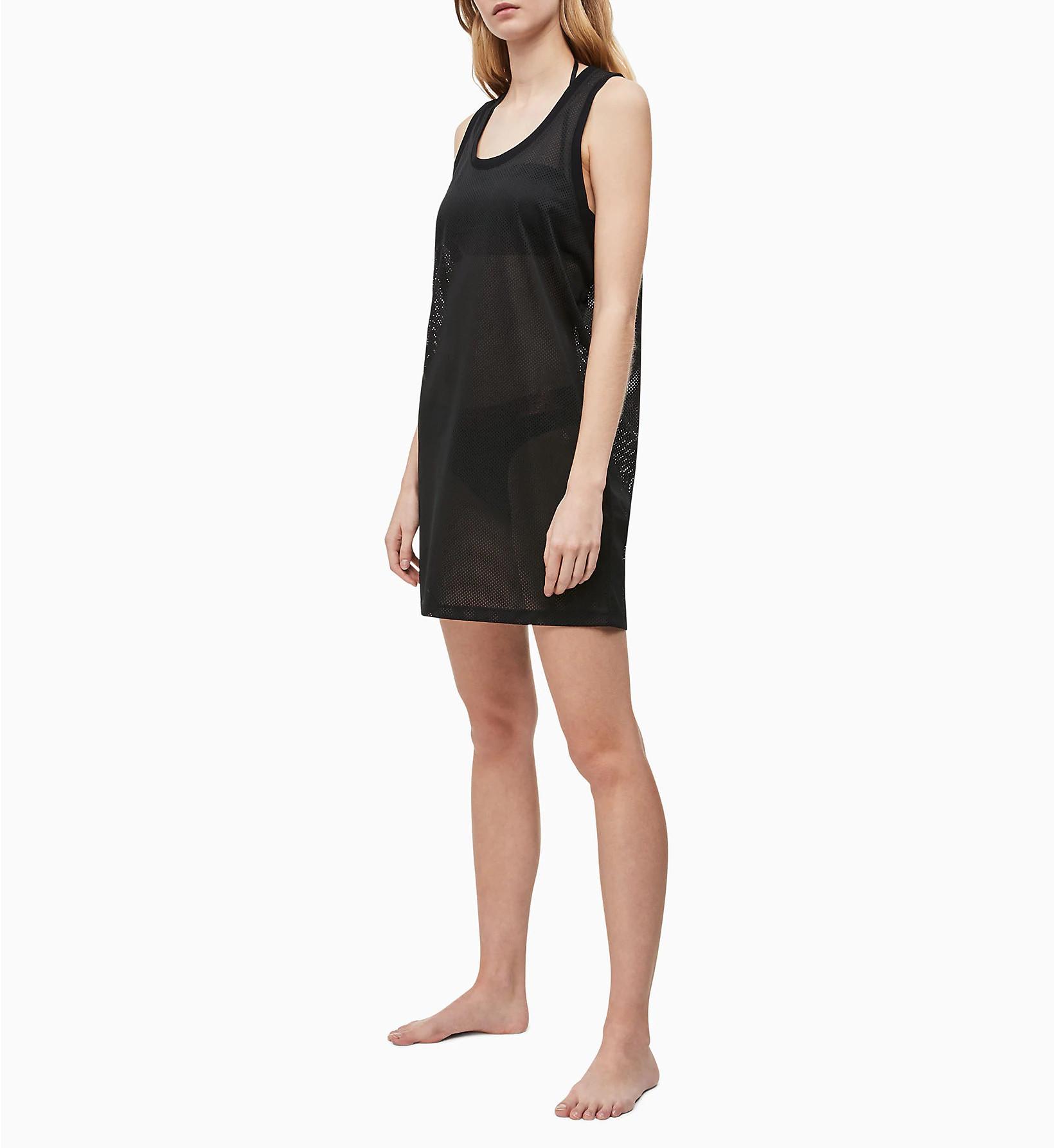 Plážové šaty KW0KW00788-BEH čierna - Calvin Klein čierna L