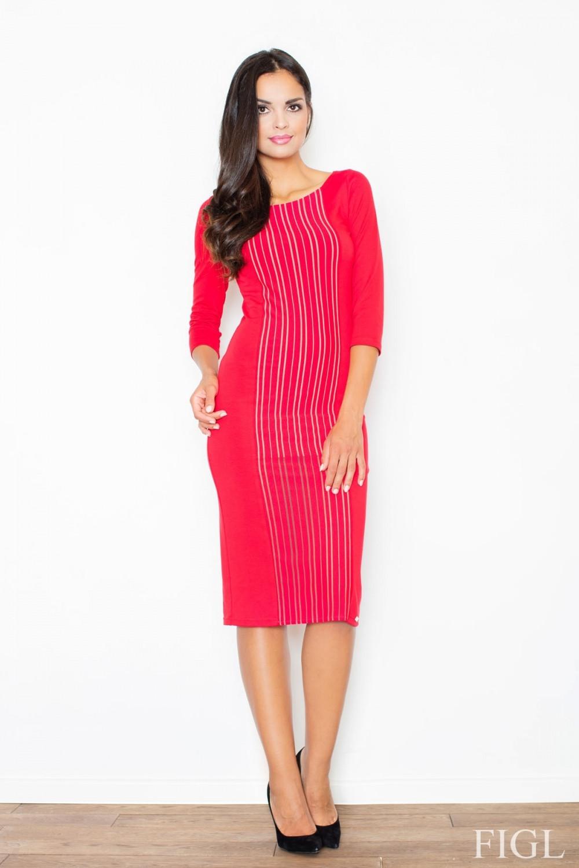 Dámske šaty M411 - Figl červená 42
