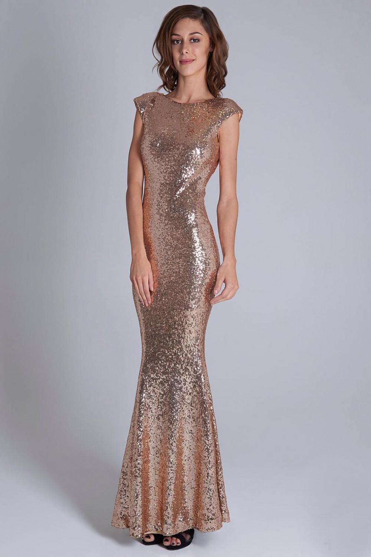 Dámské večerní šaty 15735 - YourNewStyle zlatá XL