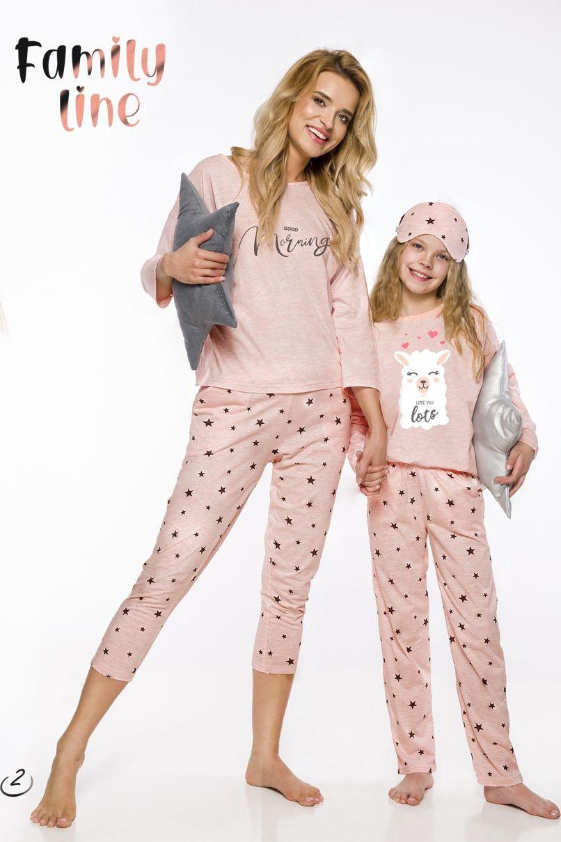 Dievčenské pyžamo Sofia 2129 - Taro ružová -Mix farieb 134