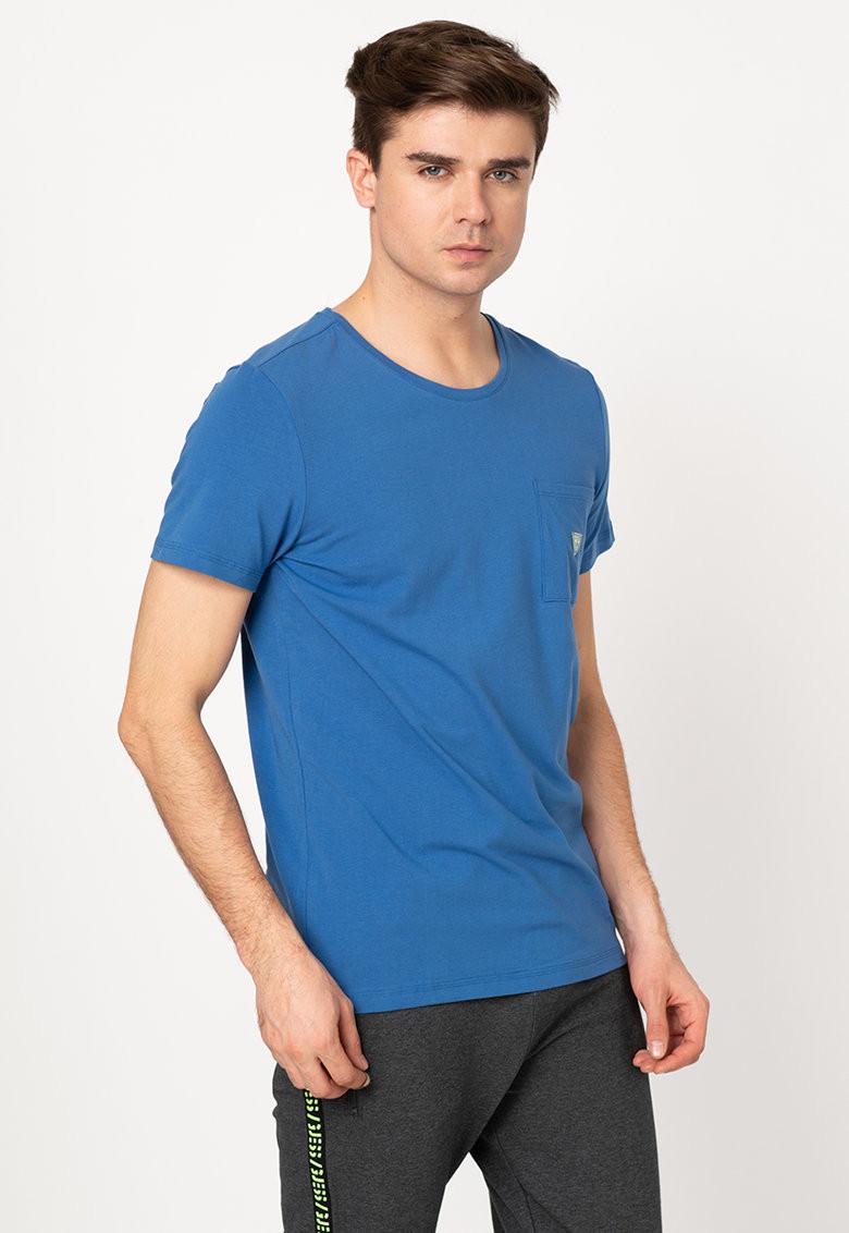 Pánské tričko U94M04JR04Q-E714 modrá - Guess modrá L