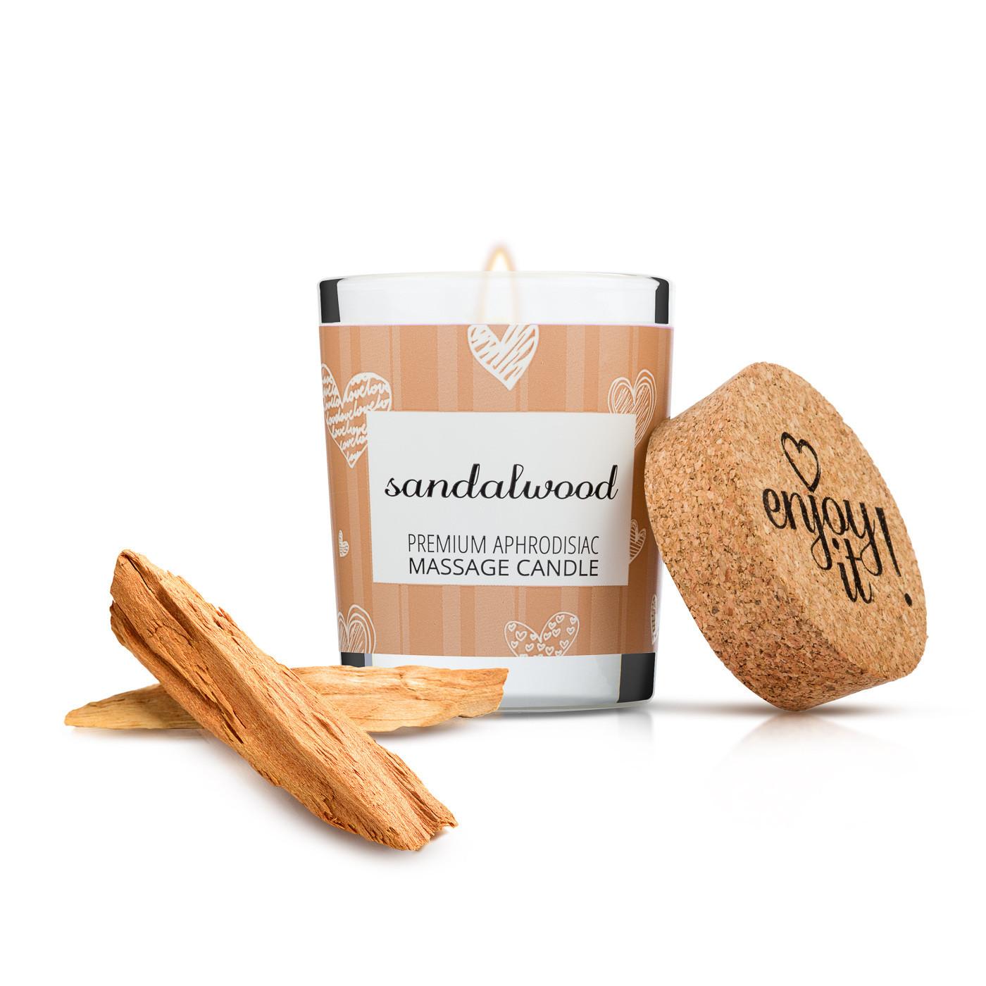 Masážna sviečka Enjoy it! Sandalwood - Magnetifico
