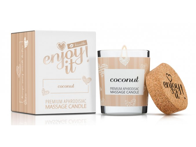 Masážna sviečka Enjoy it! Coconut - Magnetifico