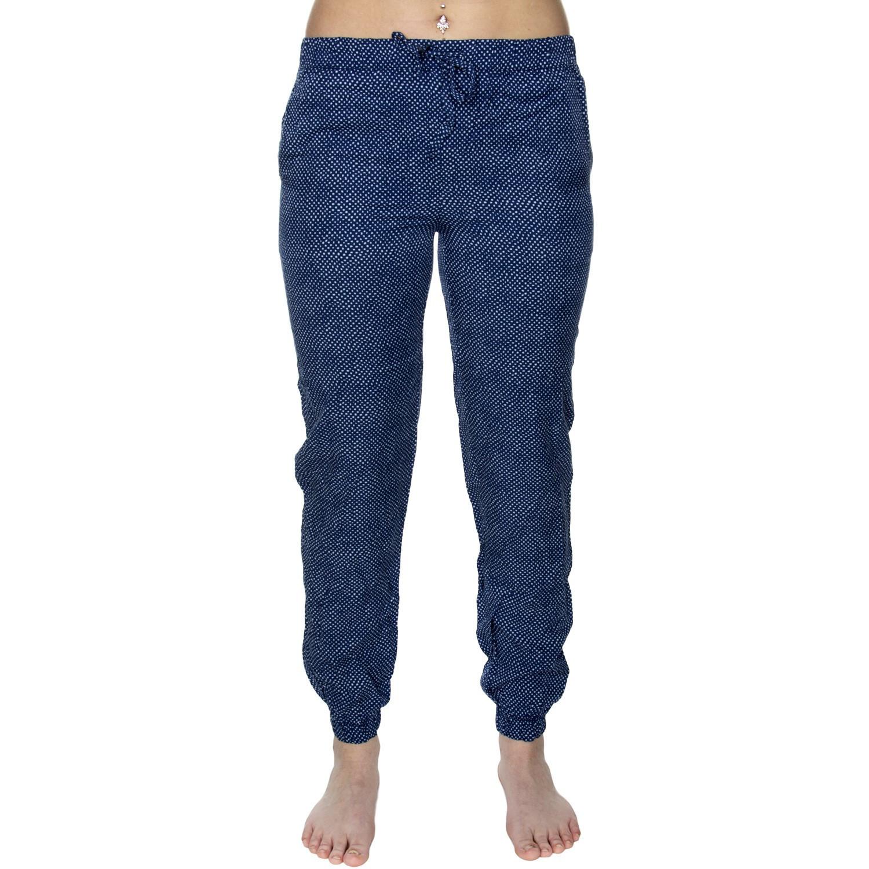 Dámske nohavice na spanie QS6027E-GFG modrobiela - Calvin Klein modro-biela L
