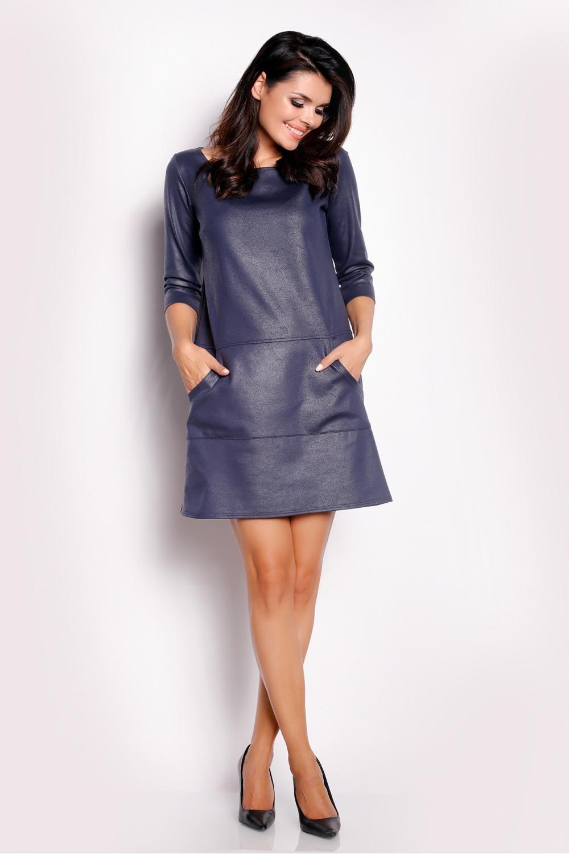 Dámske šaty A153 - Awama tmavo modrá XL