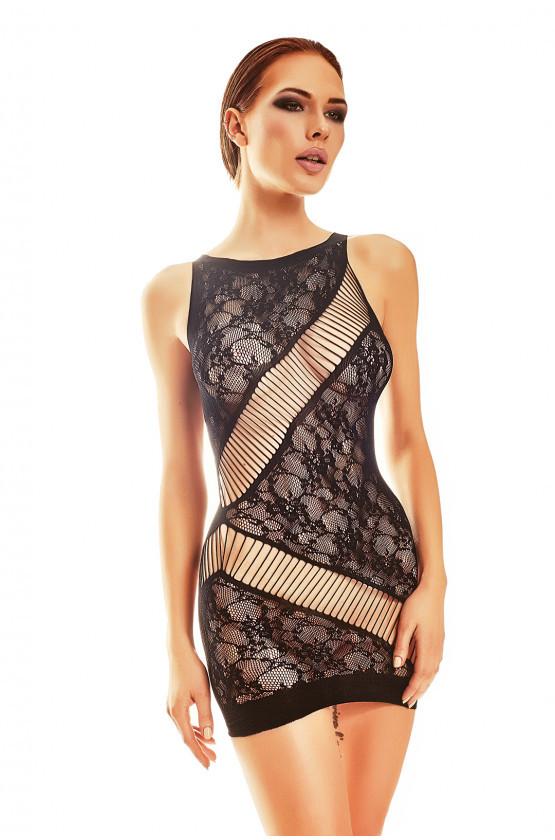 Zvodné šaty Adios - Anais čierna L / XL