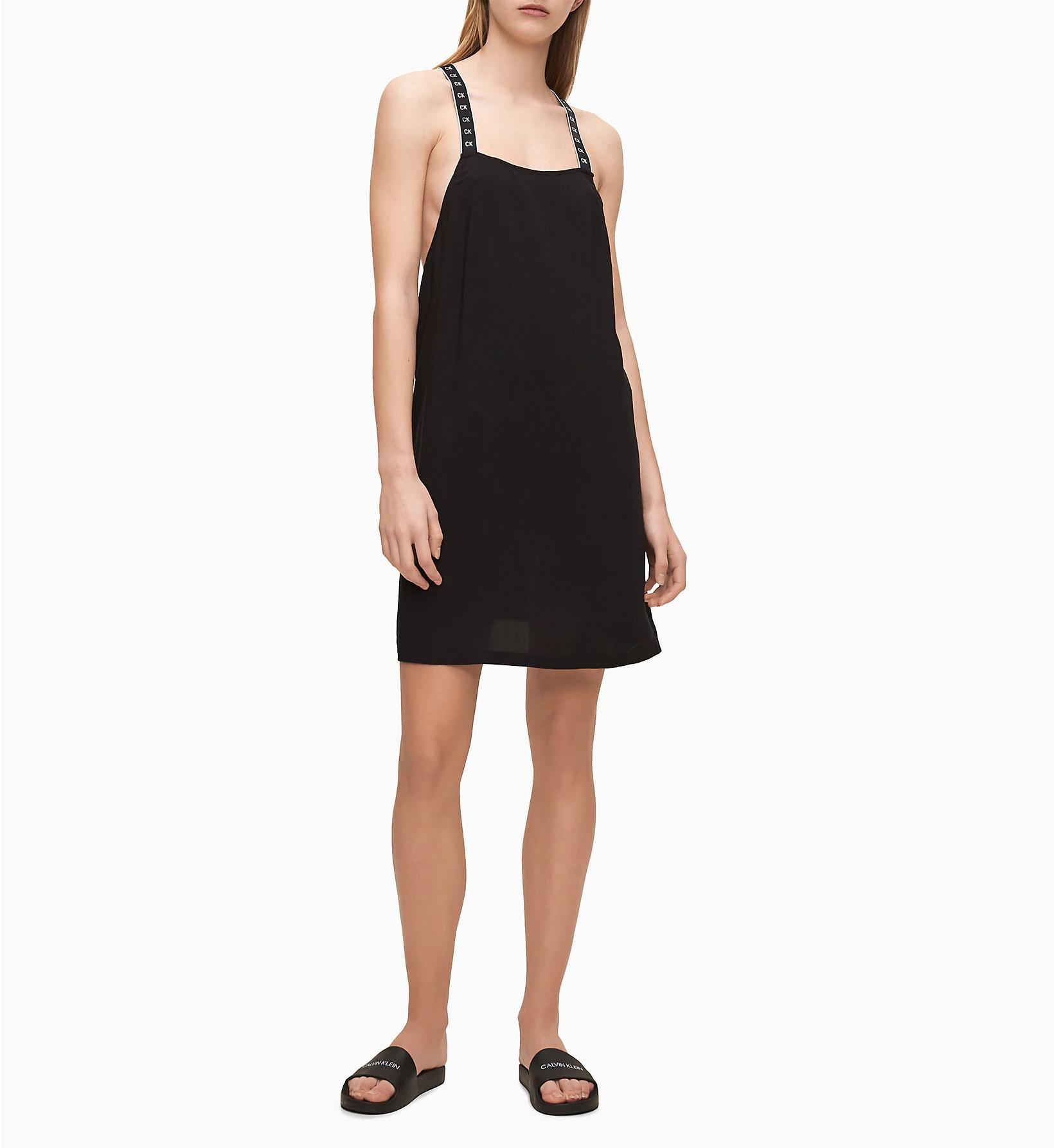 Plážové šaty KW0KW01010-BEH čierna - Calvin Klein čierna L