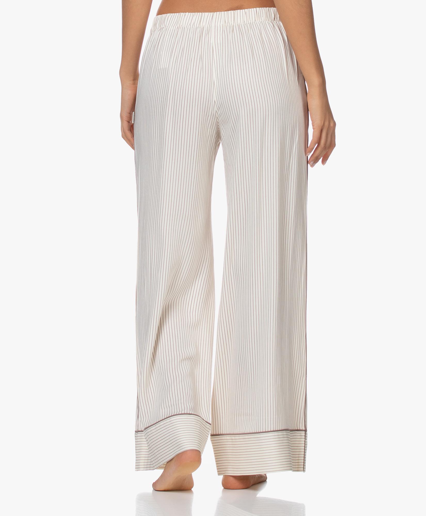 Dámske pyžamové nohavice QS6375E-SMH béžová - Calvin Klein béžová L