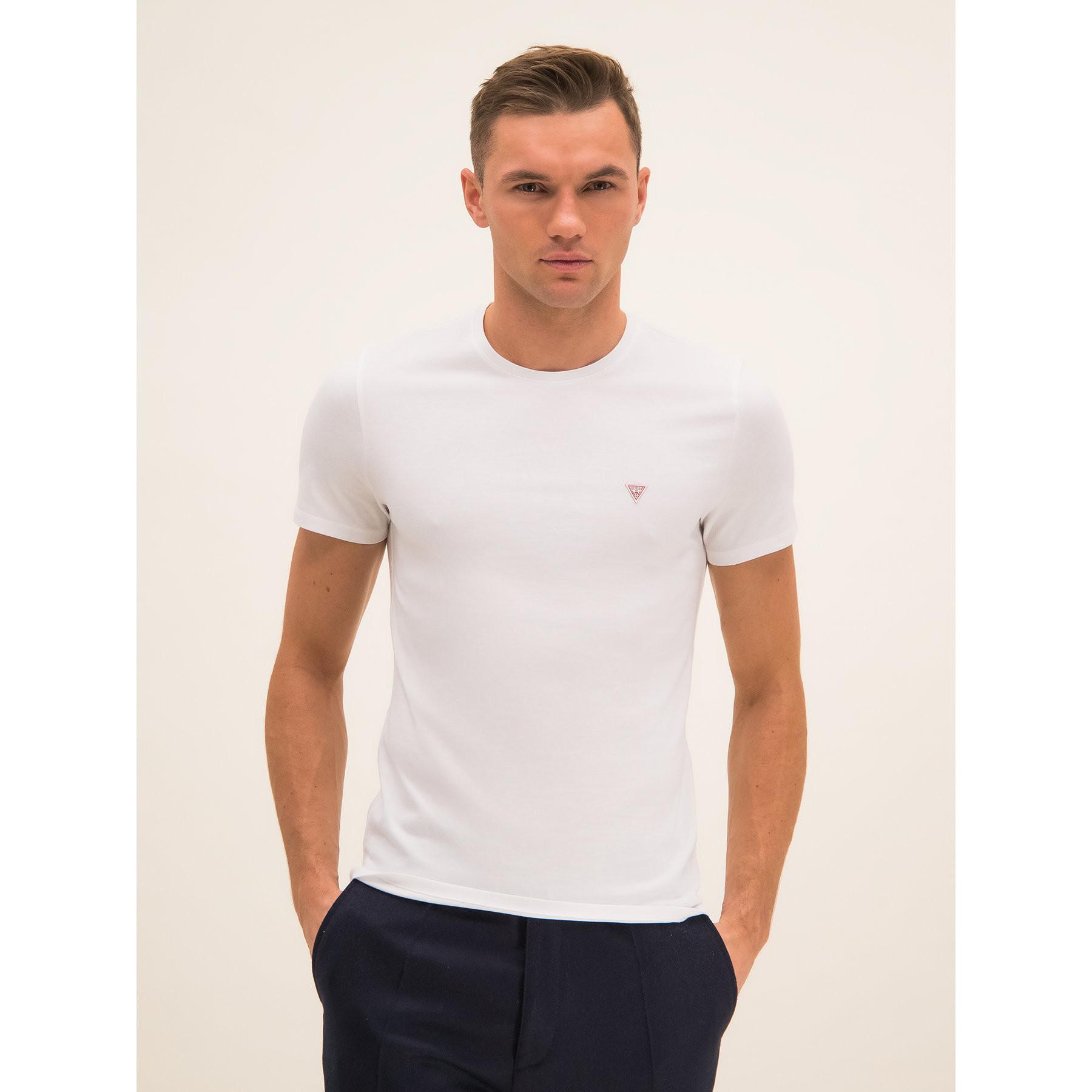 Pánske tričko F0BI00K8HM0 - TWHT - Guess biela M