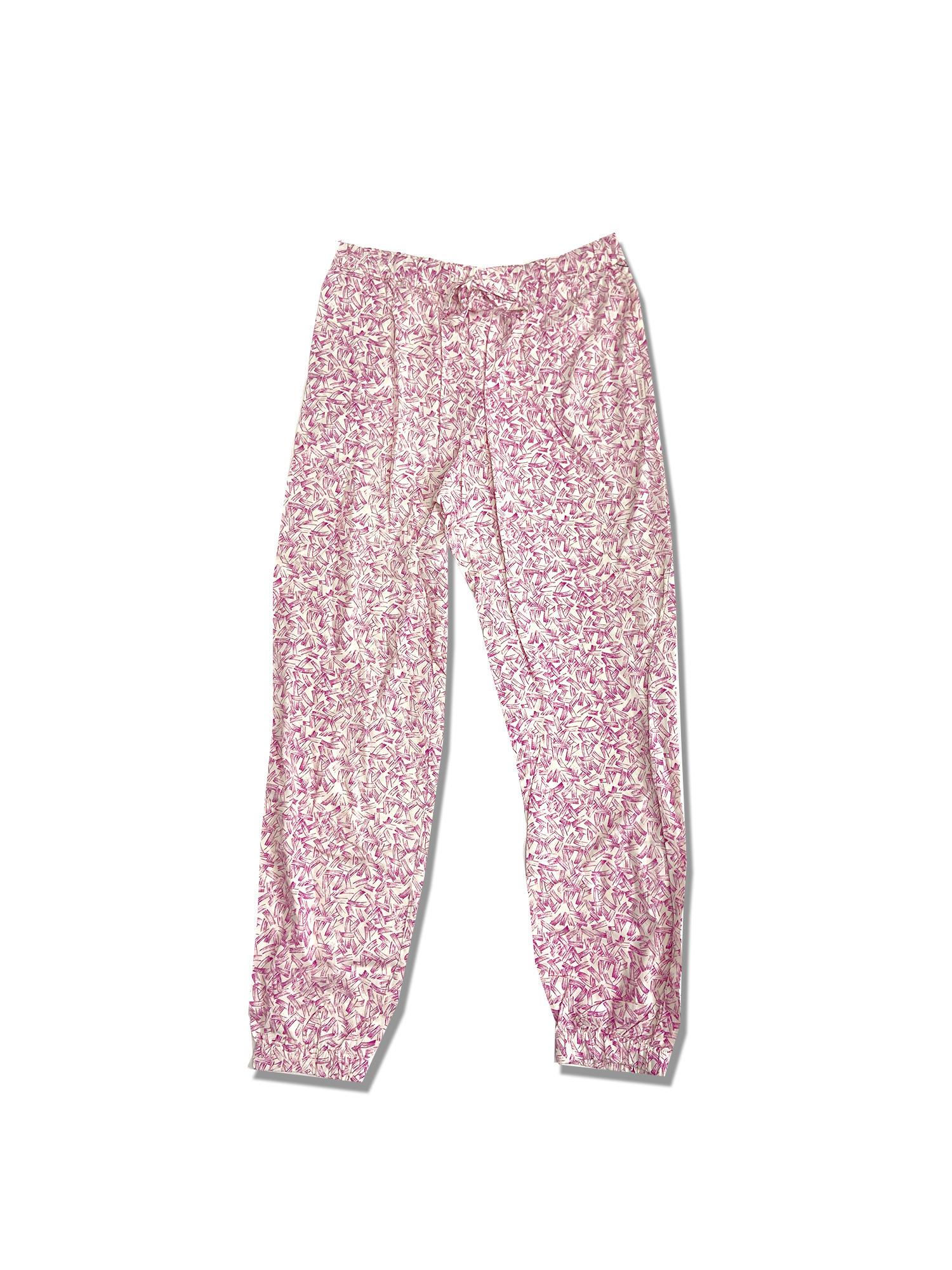 Dámske pyžamové nohavice - 000QS6027E SWC - Calvin Klein krémovo ružová M