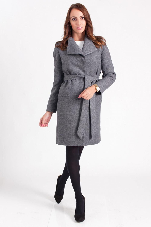 Dámský kabát PLA023 - Mattire tmavě šedá 34